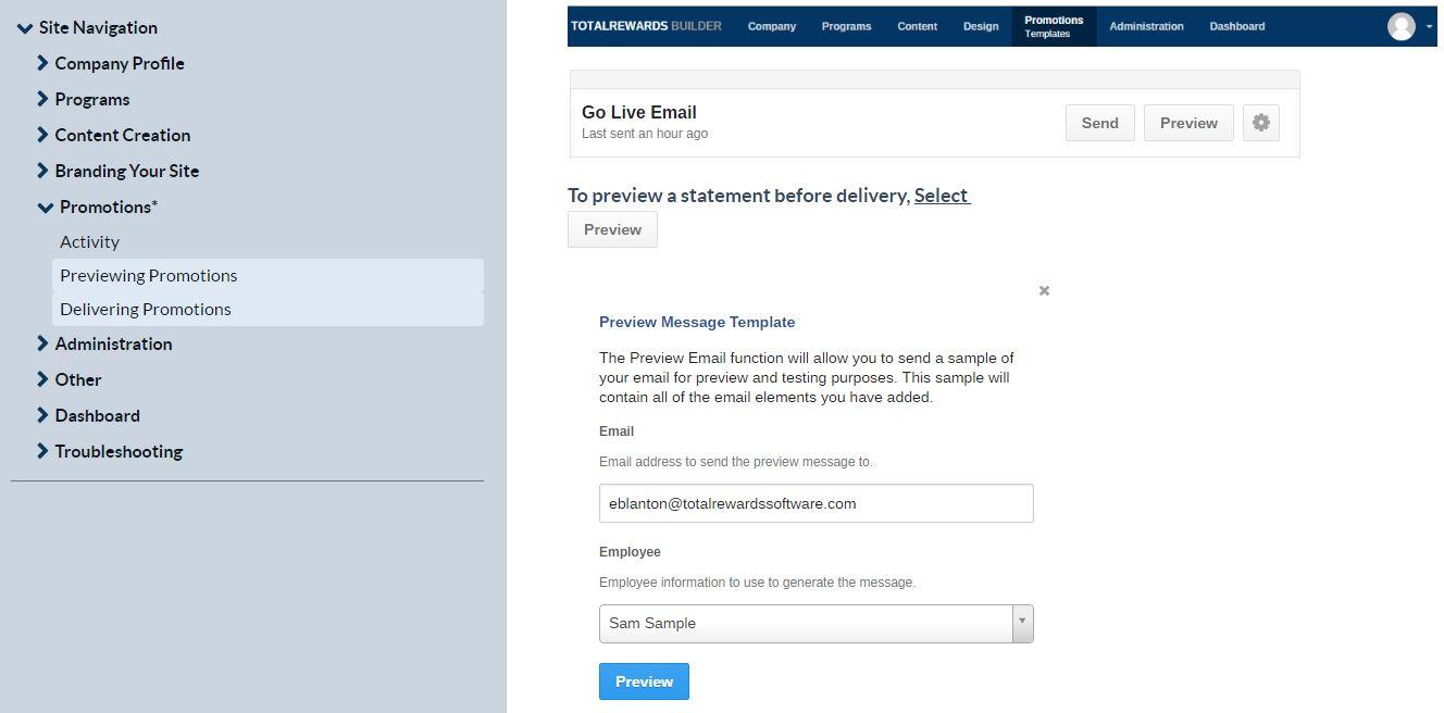 TotalRewards KnowledgeOwl - Site Navigation Actions